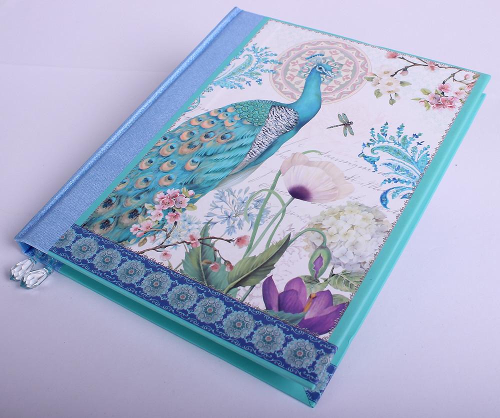 Vintage napló selyem borítással - ajándék nagyker