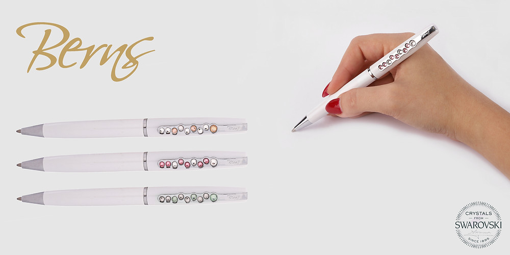 """Berns new """"Berry"""" pen collection with Swarovski crystals"""