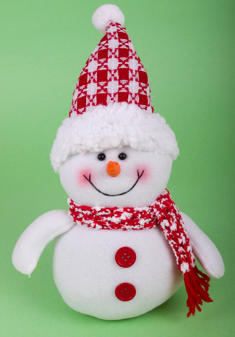 Karácsonyi logó lábú baba - karácsonyi dekor