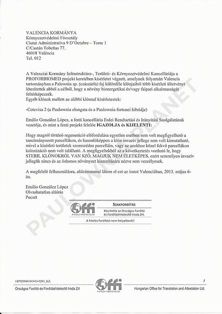 Cotevisa 2 no-invazív igazolás hivatalos
