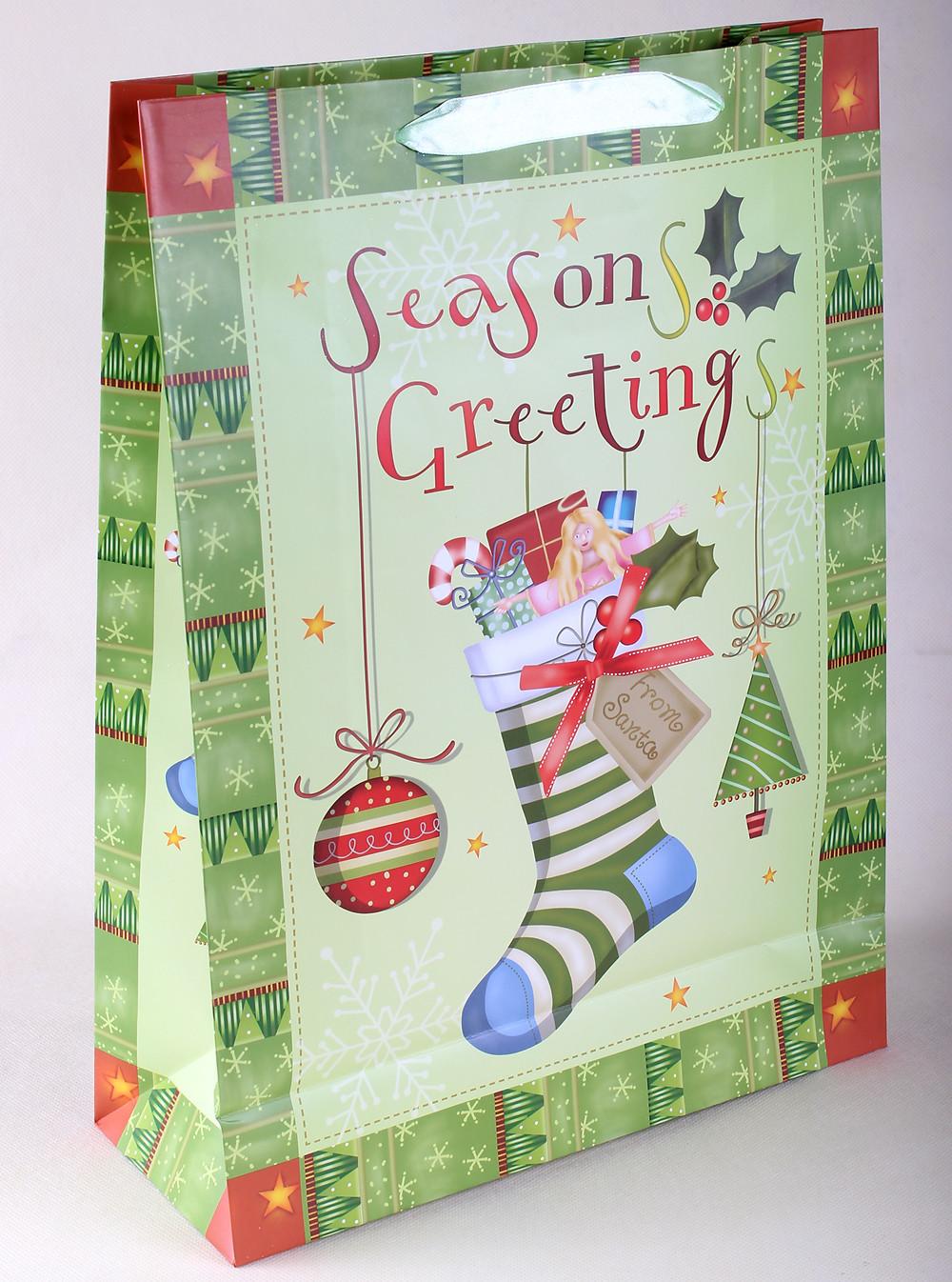 Karácsonyi papírtasak - ajándék nagyker