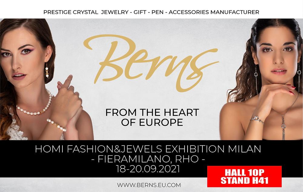 Berns Jewelry HOMI Fashion & Jewels Exhibition Milan 18-20 09 2021