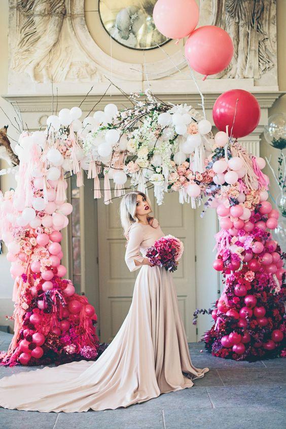 Ombre esküvői virágfal - esküvői helyszín Pécs - Slyven Étterem és Esküvő Pécs