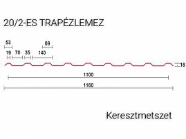 20-2es-trapézlemez