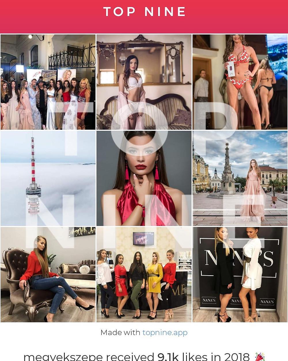 Megyék Szépe Best9 Instagram 2018
