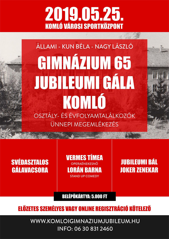 Gimnázium 65 Jubileumi Gála Komló