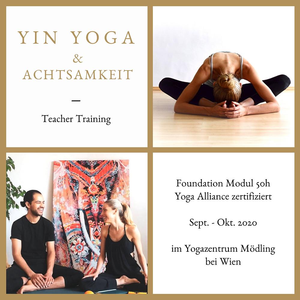 Yin Yoga & Achtsamkeit Lehrer Ausbildung mit Sabine Winkler und Philipp Sharma