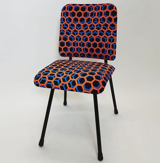 Dit stoeltje staat weer in een nieuw jas