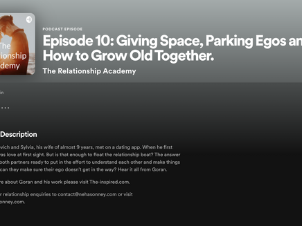 Giving Space, Parking Egos, & How To Grow Old Together - Podcast Interview