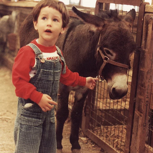 Me and my donkey!