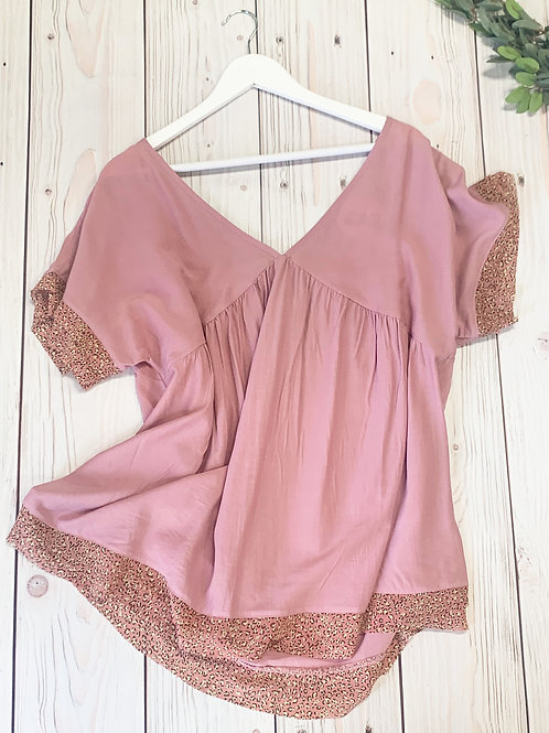 Pink and Sparkly Shirt