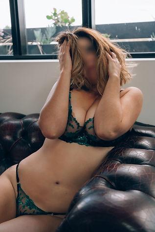 Elle Lush green lingerie leather sofa