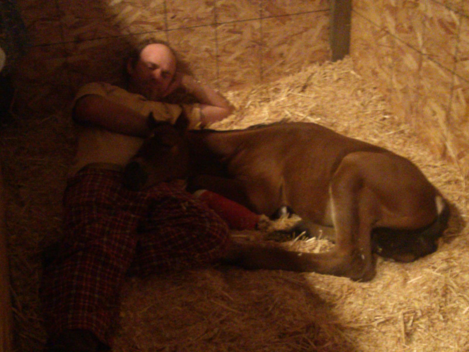 "Rowdy sleeping with ""dad"""