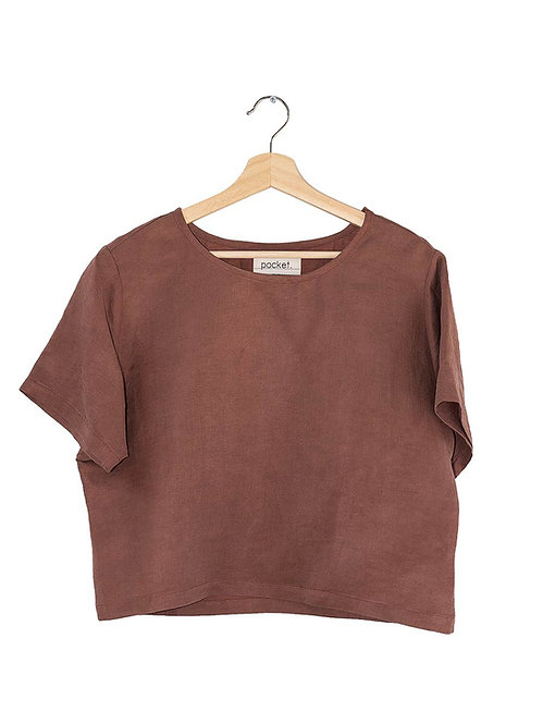 The Heather Top: Linen/Tencel