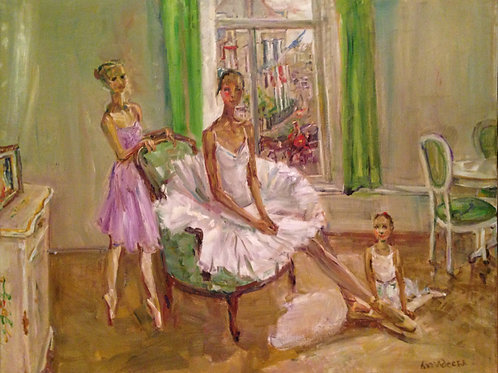 Vladislav Kuramshin Ballet Academy. Young ballerinas Pauline, Kseniya and Barbar