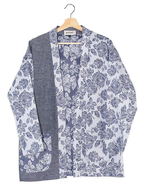 The Cartworth Coat: Floral Chambray