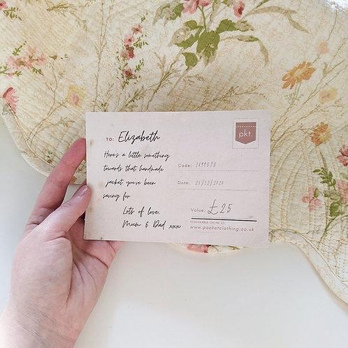 Gift Voucher £25-£200