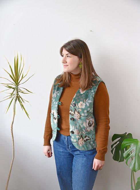 The Morton Vest: Teal Tapestry