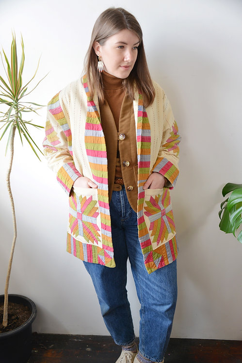 The Cartworth Coat: Bears Paw Patchwork