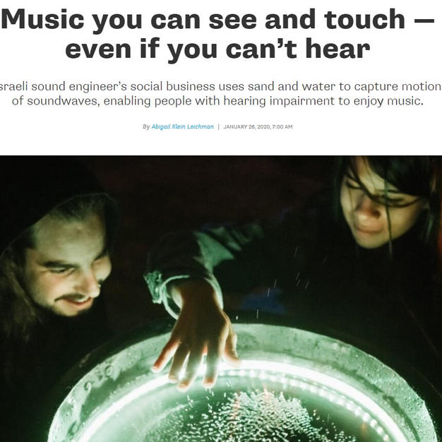 Music you can see and touch — even if you can't hear
