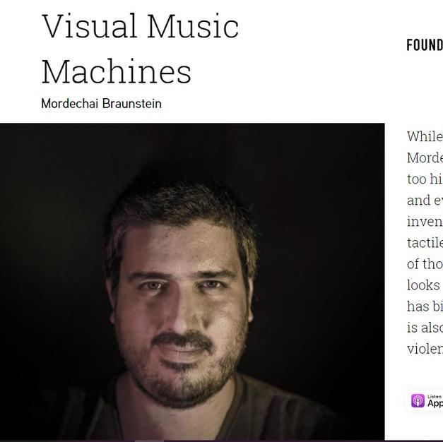 Visual Music Machines