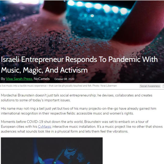 Israeli Entrepreneur Responds To Pandemic With Music, Magic, And Activism