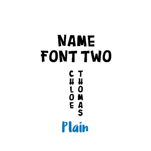Name - Plain Colours - Font Two