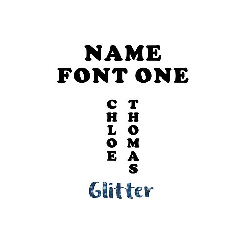 Name - Glitter Colours - Font One