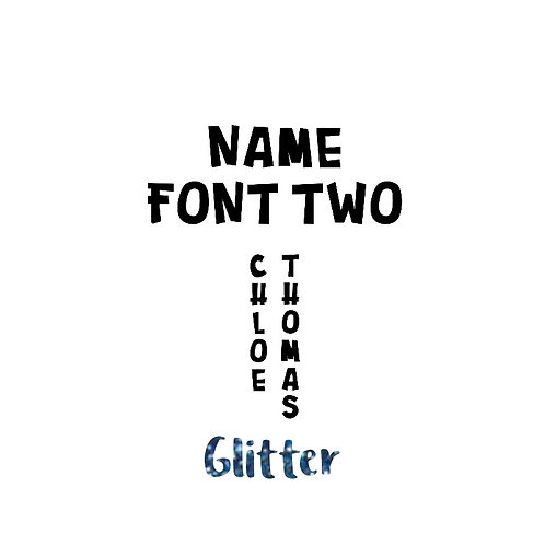 Name - Glitter Colours - Font Two