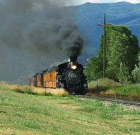Colorado Death Riders race the Durango to Silverton Narrow Gauge Railroad