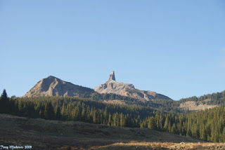 The Lizard Head Mountain to the west of CO 145