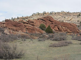Red rocks formations at South Valley Park