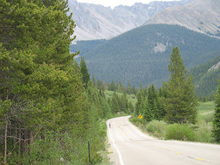 The stair-step approach to Independence Pass.