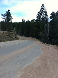 The top of the SuperJames climb and the high point of the BFF course