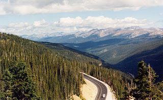Mountain vistas near the summit of Berthoud Pass are spectacular.