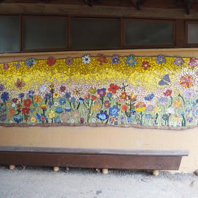 Ghilgai Steiner School Flower mosaic _Si