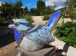 Mr Suberb Fairy wren mosaic _Sioux Dollm