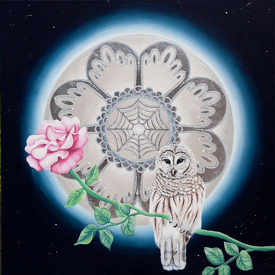 The Moon the Owl and the Rose