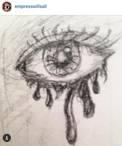 """Dripping Mascara"" @empresswillsail"