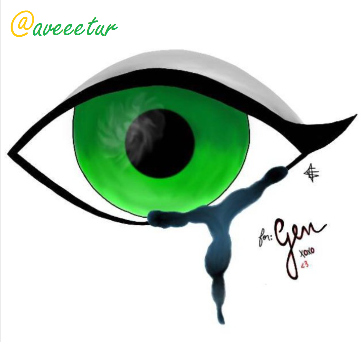 """""""Crying Green Eyes"""" by @aveetur"""