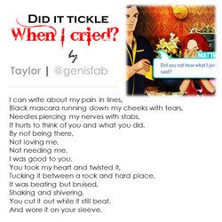 """""""Did it Tickle When I Cried"""" © 2015"""