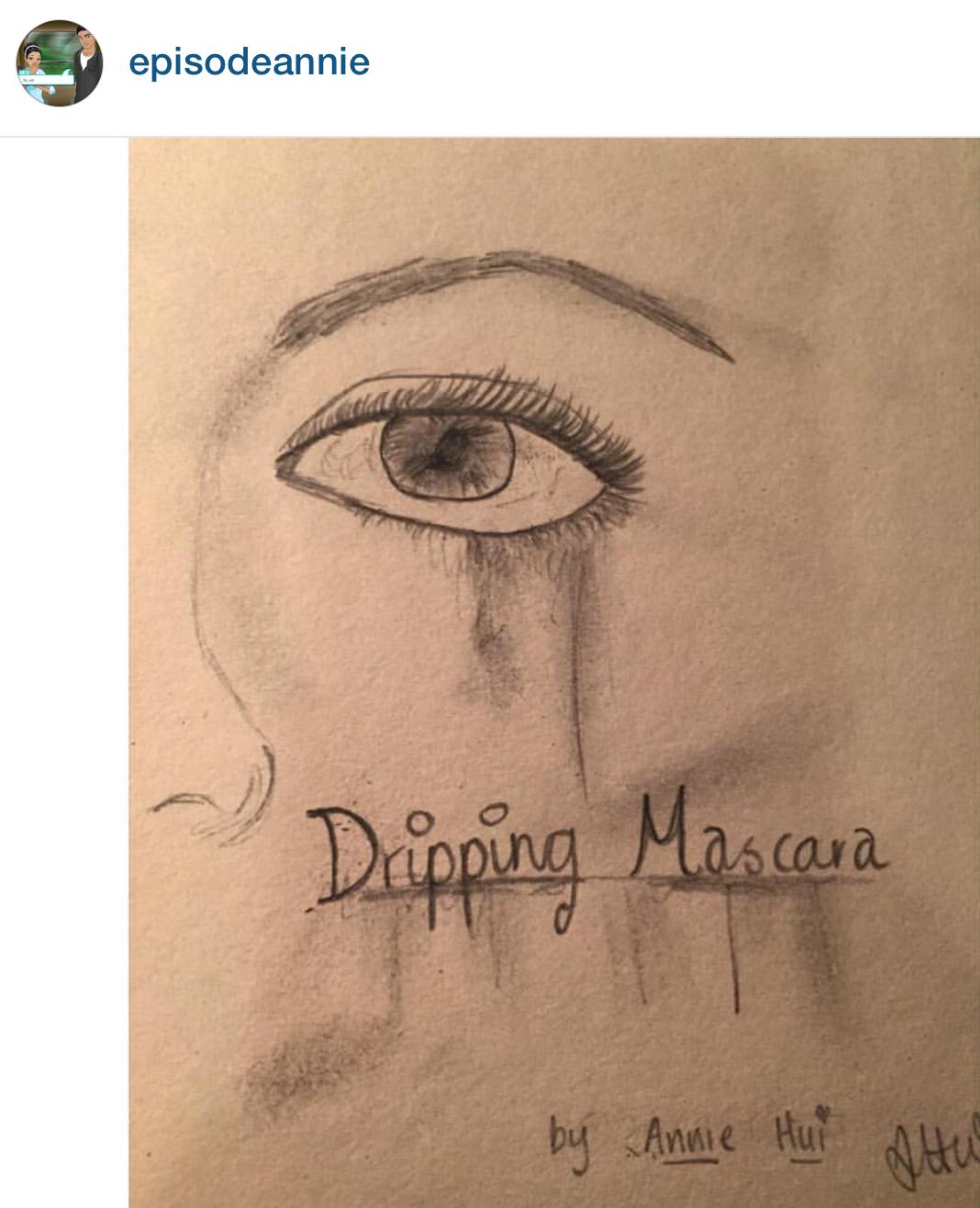 """Dripping Mascara"" by @episodeannie"