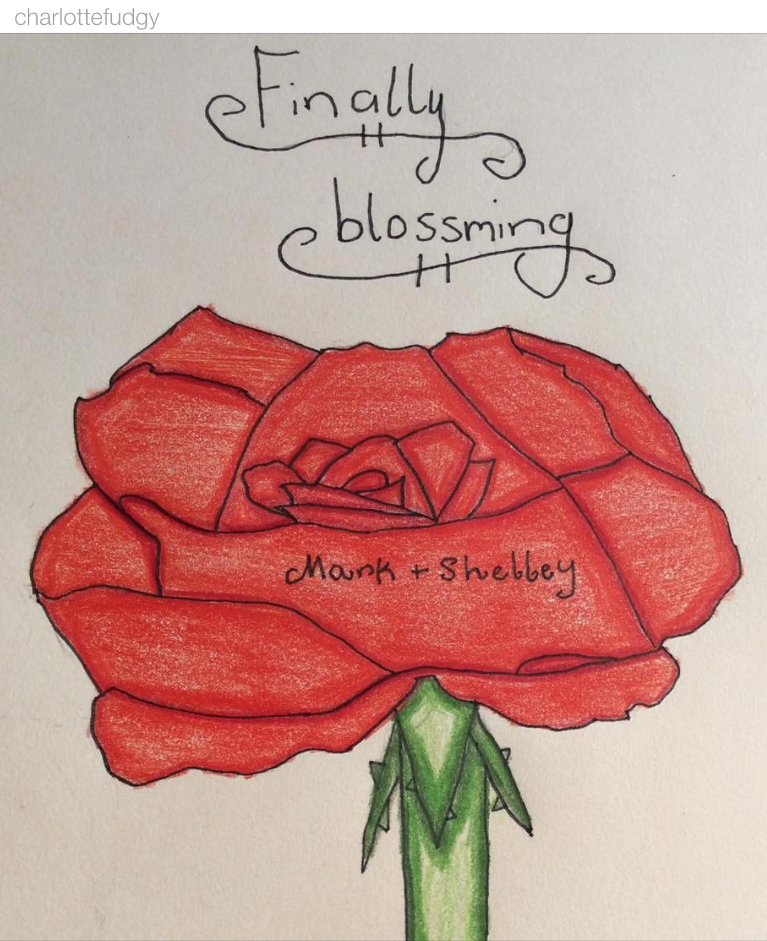 """""""Finally Blooming"""" @charlottefudgy"""