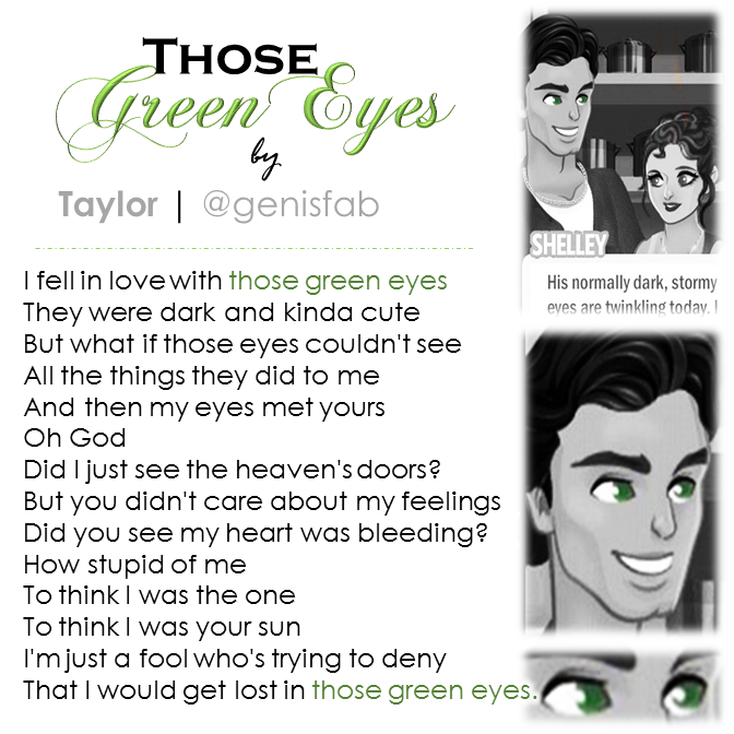 """Those Green Eyes"" © 2015"