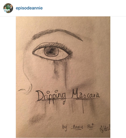 """Dripping Mascara"" by @episodeannie"