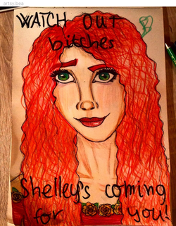 """Shelley"" by @artsy.bea"