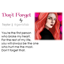 """""""Don't Forget"""" © 2016"""