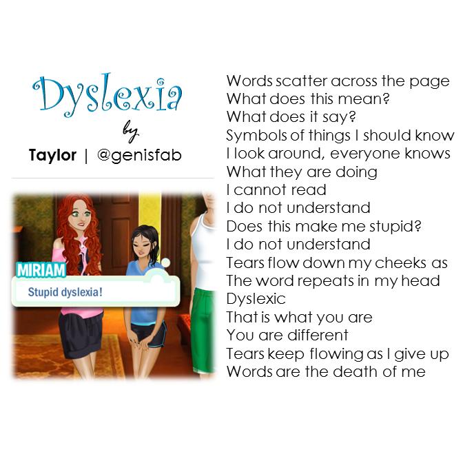"""""""Dyslexia"""" © 2015"""