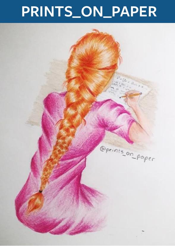 """Braids"" by @prints_on_paper"
