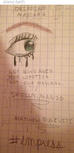 """""""Dripping Mascara"""" by @elana.beth"""